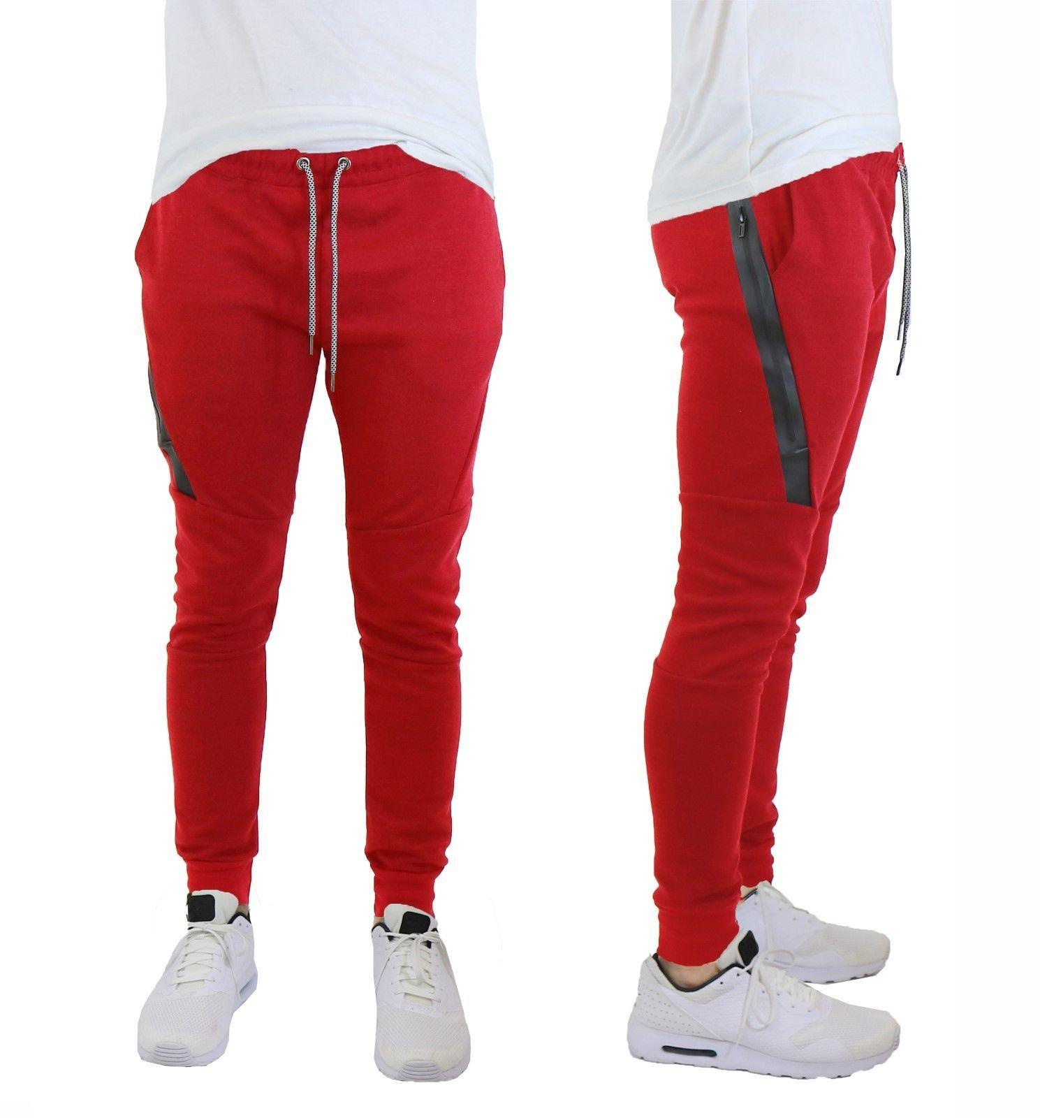 Mens Fleece Jogger Pants Sweatpants Active Performance