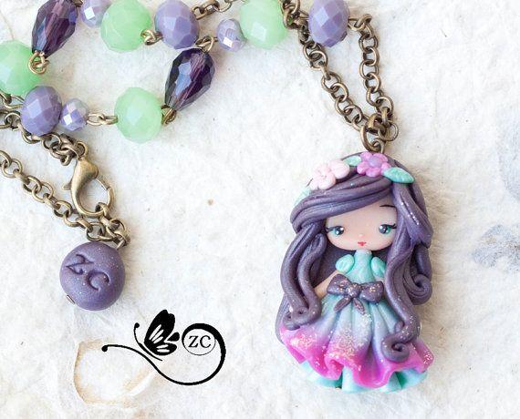 polymer clay necklace/ doll clay/ fimo  / zingara creativa