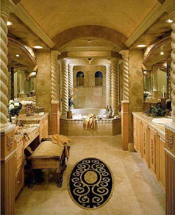 Classic Style Master Bathroom, Florida Mansion