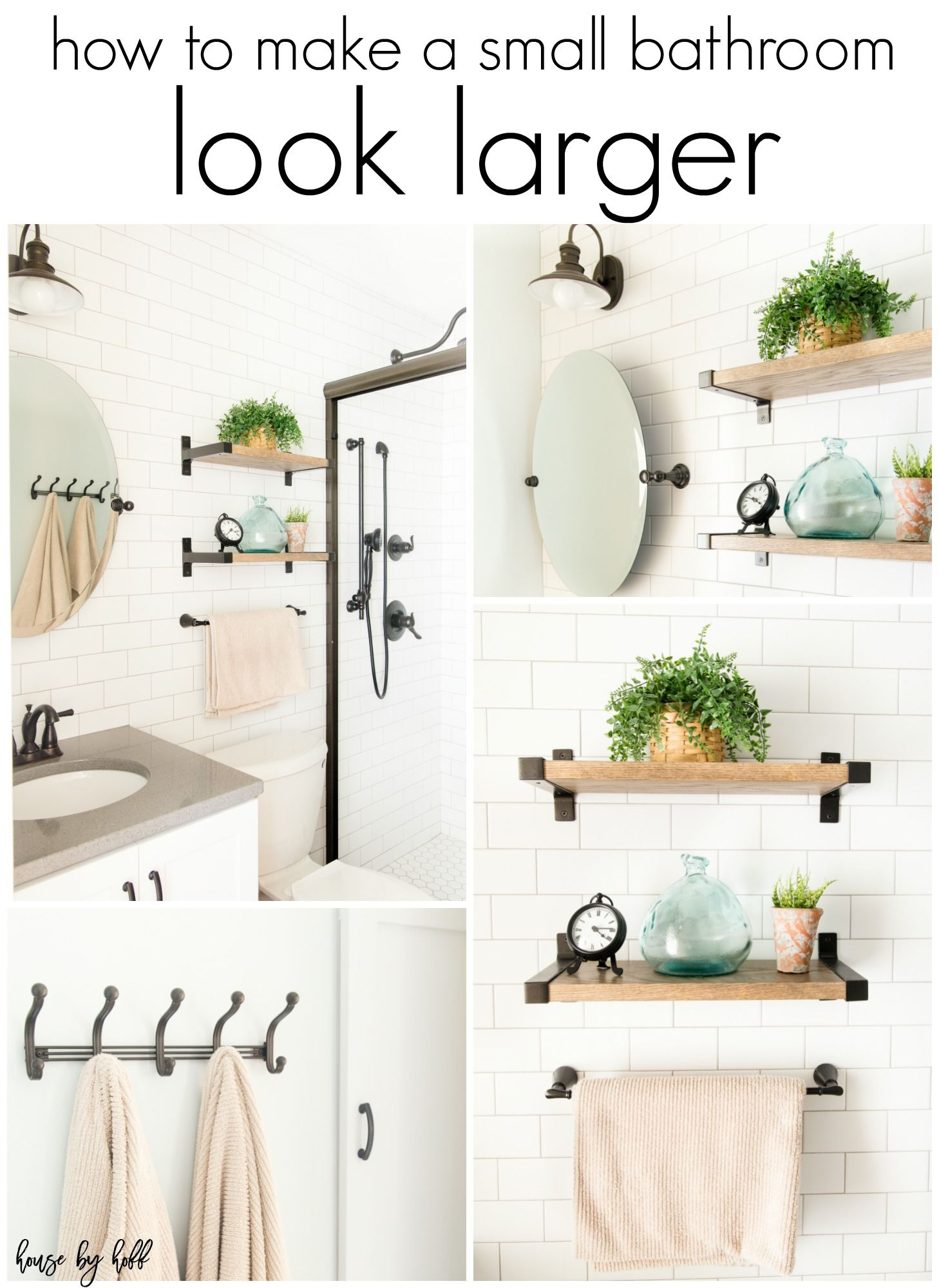 How To Make A Small Bathroom Look Larger: My Parentsu0027 Bathroom Makeover