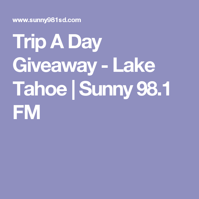 98.1 vacation a day giveaway times