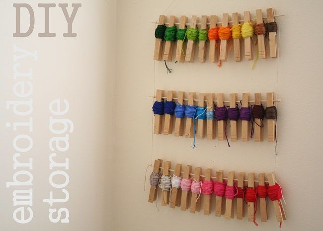 Dilly Dally Blog: Embroidery Floss Storage