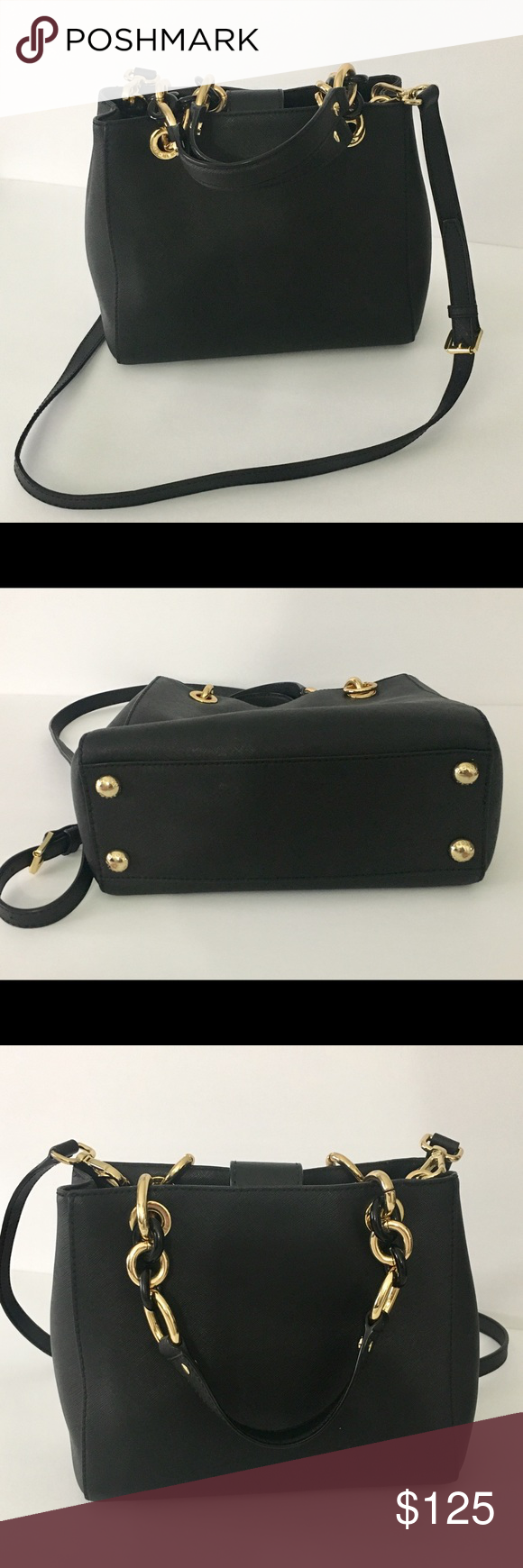 cfea8b41b275 Authentic Michael Kors Black Authentic Pre-owned MK Satchel Handbag black  leather, in excellent conditions, gently care model 1974222 10