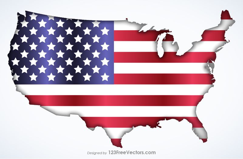American Flag Map American Flag Flag Usa Flag