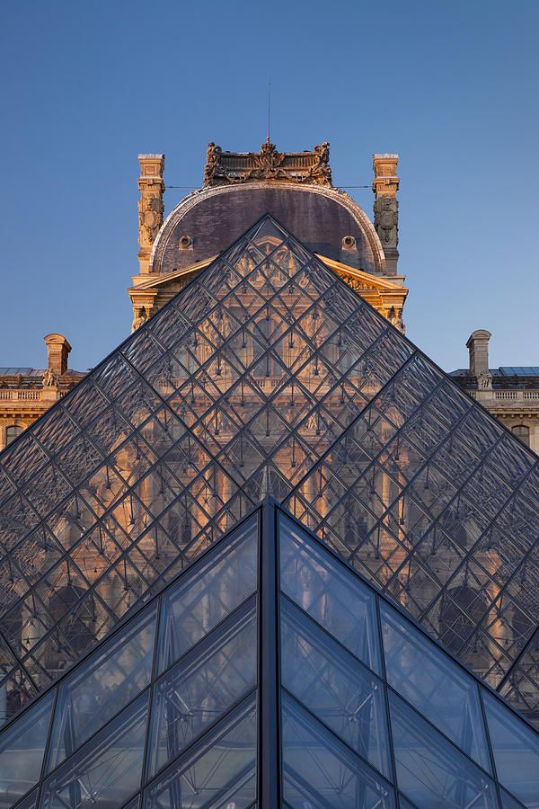 Glass Pyramid at Musee du Louvre, Paris