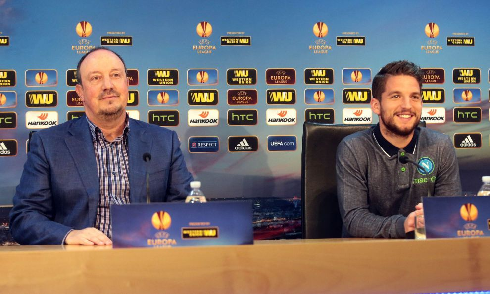 FOTO Napoli, Benitez e Mertens: «Dobbiamo giocare bene e vincere» - Corriere dello Sport.it