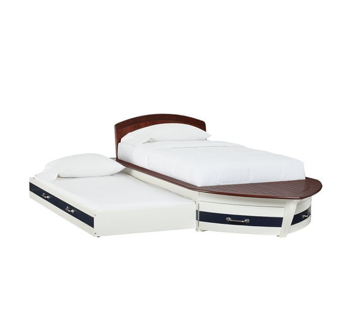 Pottery Barn Kids Speedboat Bed Trundle Twin Used Ex Cond So Fl