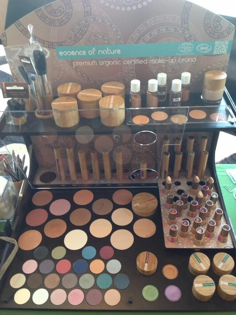 Showcasing our 100 natural certified organic makeup line