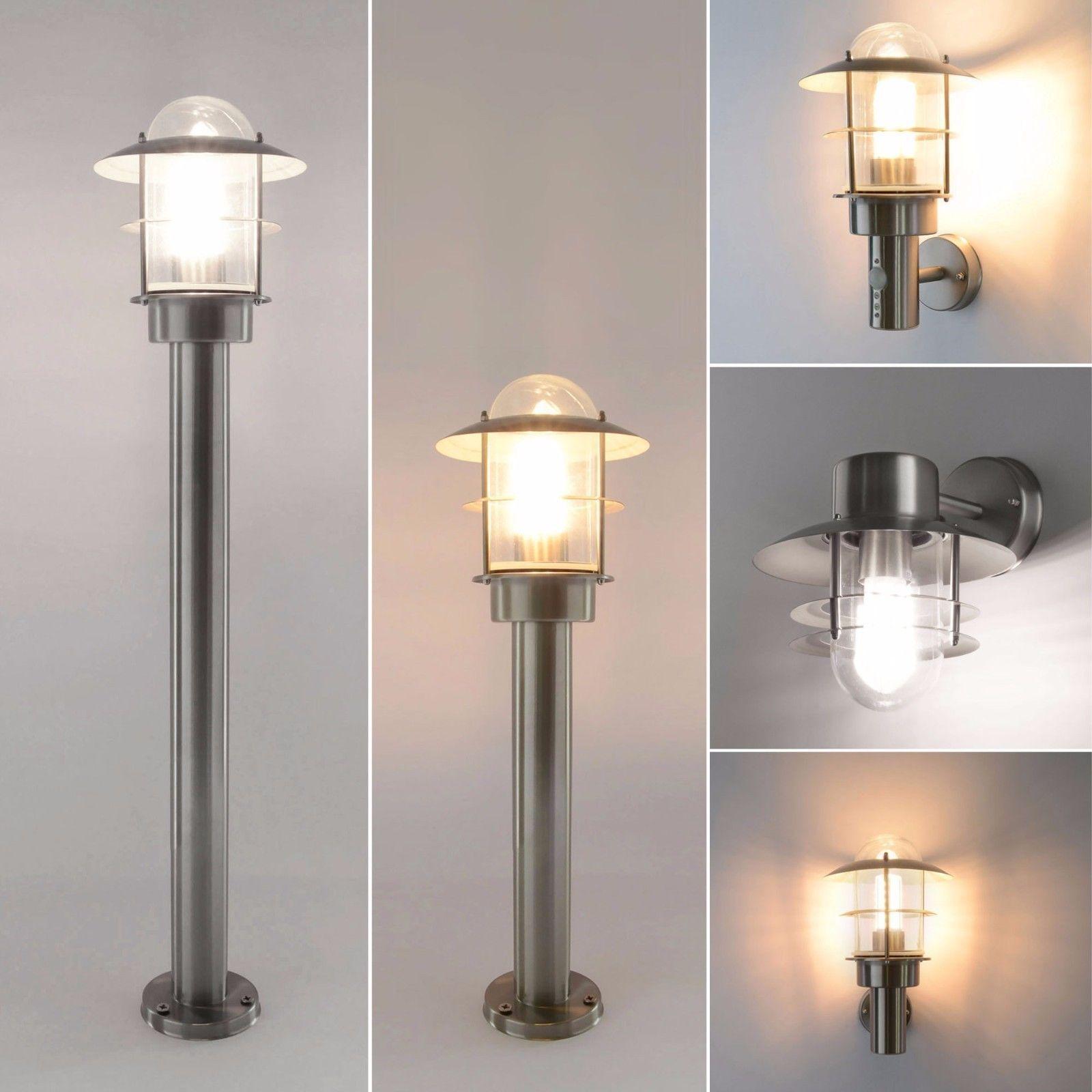 Au/ßenleuchte Au/ßenlampe Wandleuchte mit Bewegungsmelder Edelstahl E27 Aussenwandleuchte Lampe Lampen 251