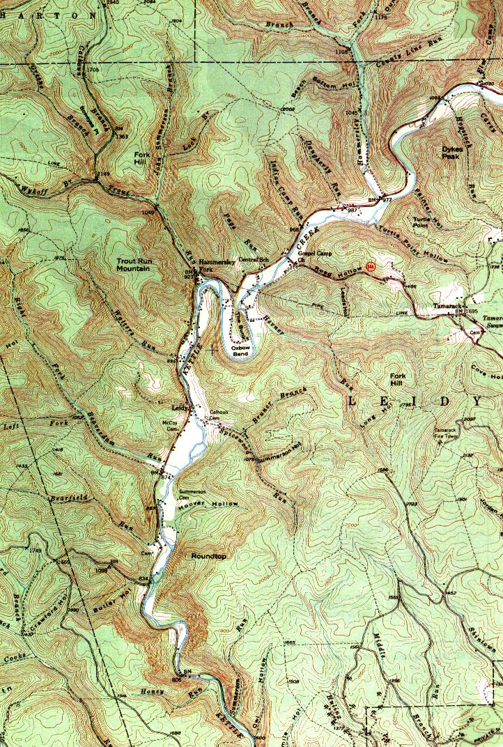 Topographical Map Of Pa Renovo Maps Map Mountains Topographic Map