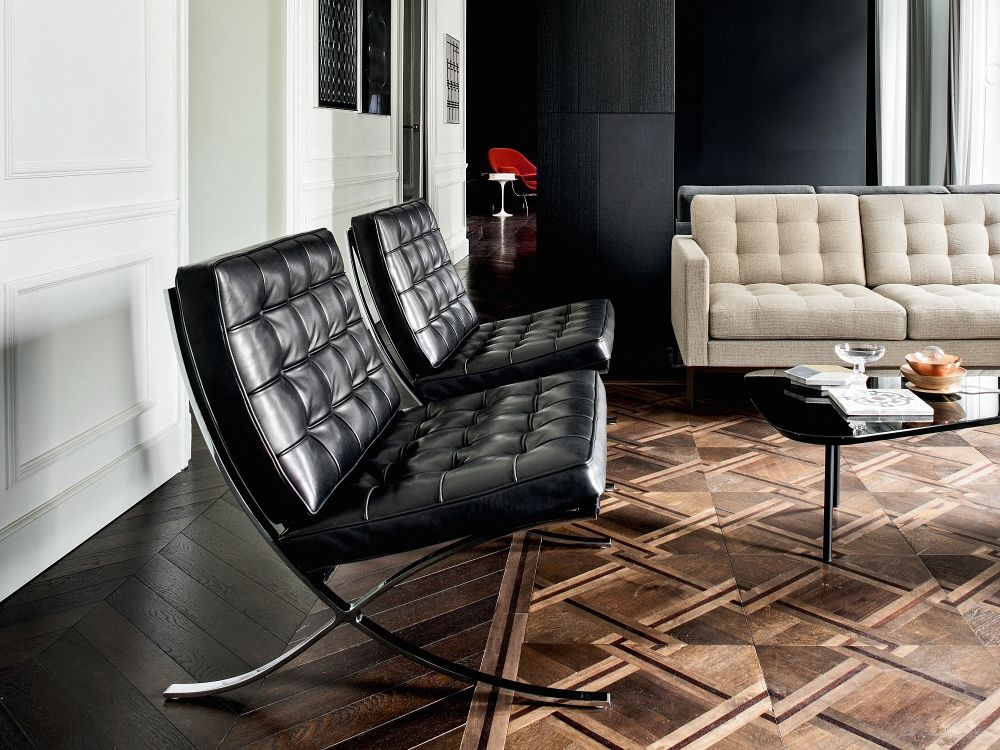 Wohnzimmer Möbel Ludwig Knoll International Barcelona Sessel | Design Classics