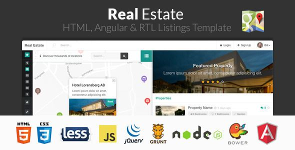 real estate html angular rtl listing template by frontendmatter real estate is a premium property listing html template with specialised features for