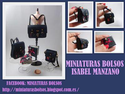 Miniaturas bolsos: Bolsos con estampado de flores
