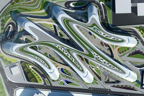 Zaha Hadid Chinese Architecture Futuristic Concept Sky