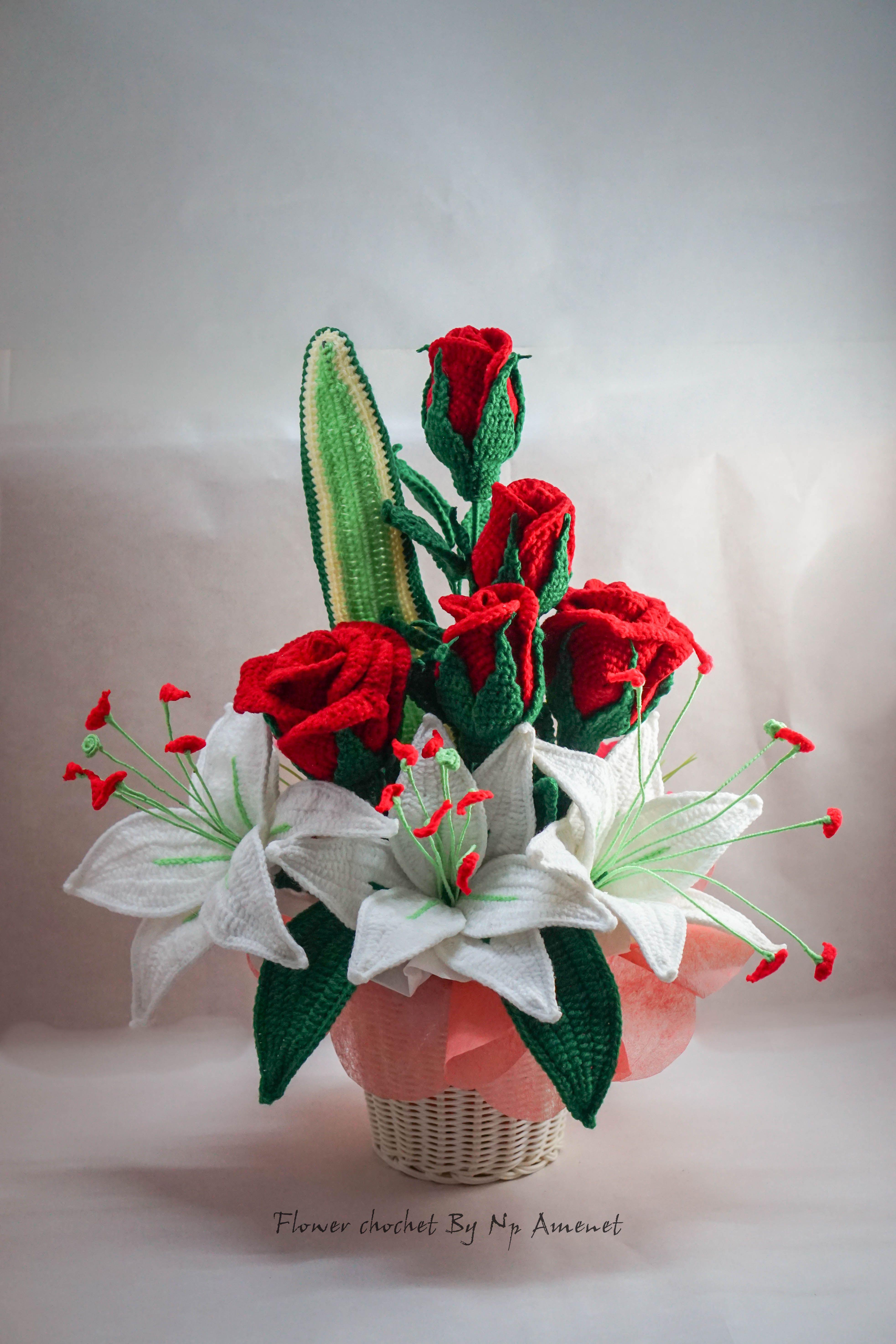 Flower bouquet flower bouquet crochet pinterest flower flower bouquet izmirmasajfo
