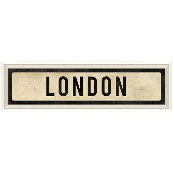 Street Sign Home Decor Amazing Dot & Bo Londoner Street Sign $62 ❤ Liked On Polyvore Featuring Review
