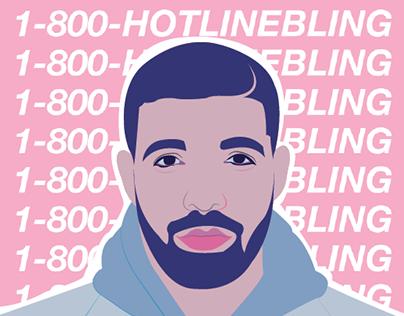 Hotline Bling Drake Vector Hotline Bling Drake Drake Hotline Painting