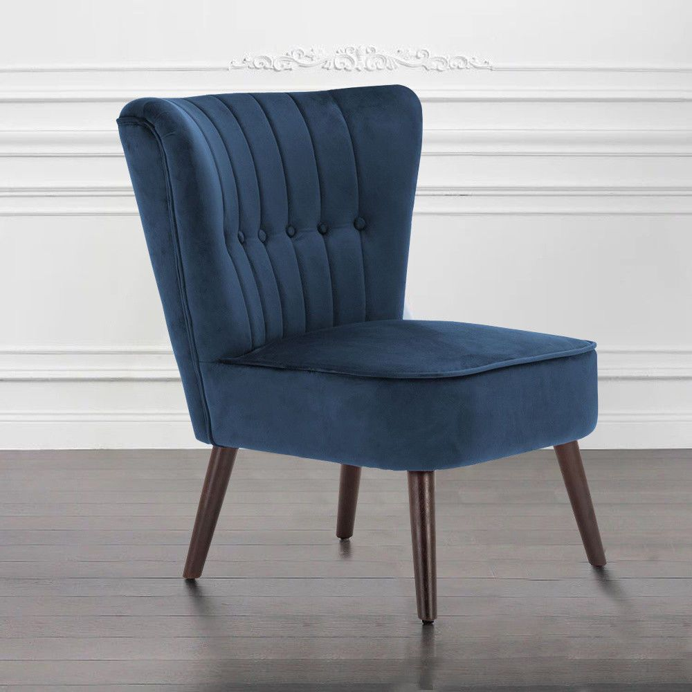 Best Details About Luxury Blue Dining Chair Scroll Back Lounge Fireside Reading Sofa Home Furniture 400 x 300