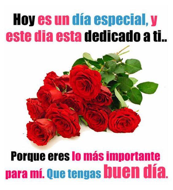 Imagenes De Rosas Rojas Con Frases De Buenos Dias Flores Frases