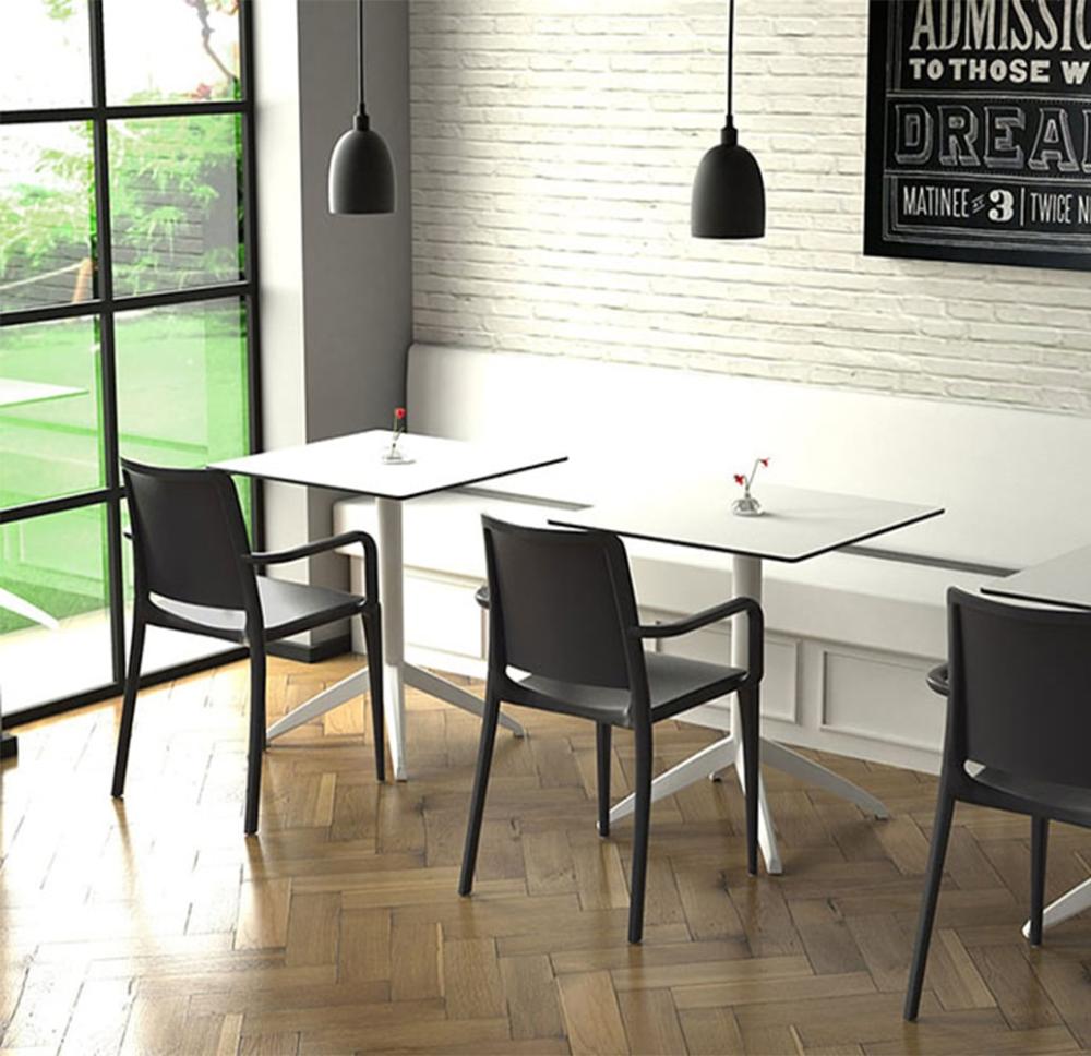 Table Quadro U Mobilier Professionnel Hotellerie Restauration En 2020 Table Industrielle Banquette Restaurant Et Table