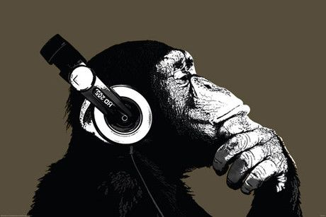 THE CHIMP - stereo posters buy at http://www.abposters.com/posters/the-chimp-stereo-v16594