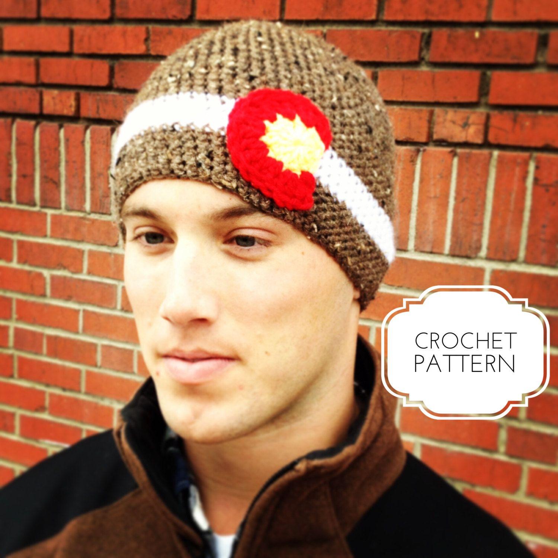 Mens Tweed Colorado Beanie Crochet Pattern- Colorado Crochet Hats ...