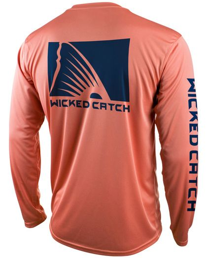 fd657987f Wicked Catch men's long sleeve performance fishing shirt featuring UPF 50  sun protection. #fishingshirt