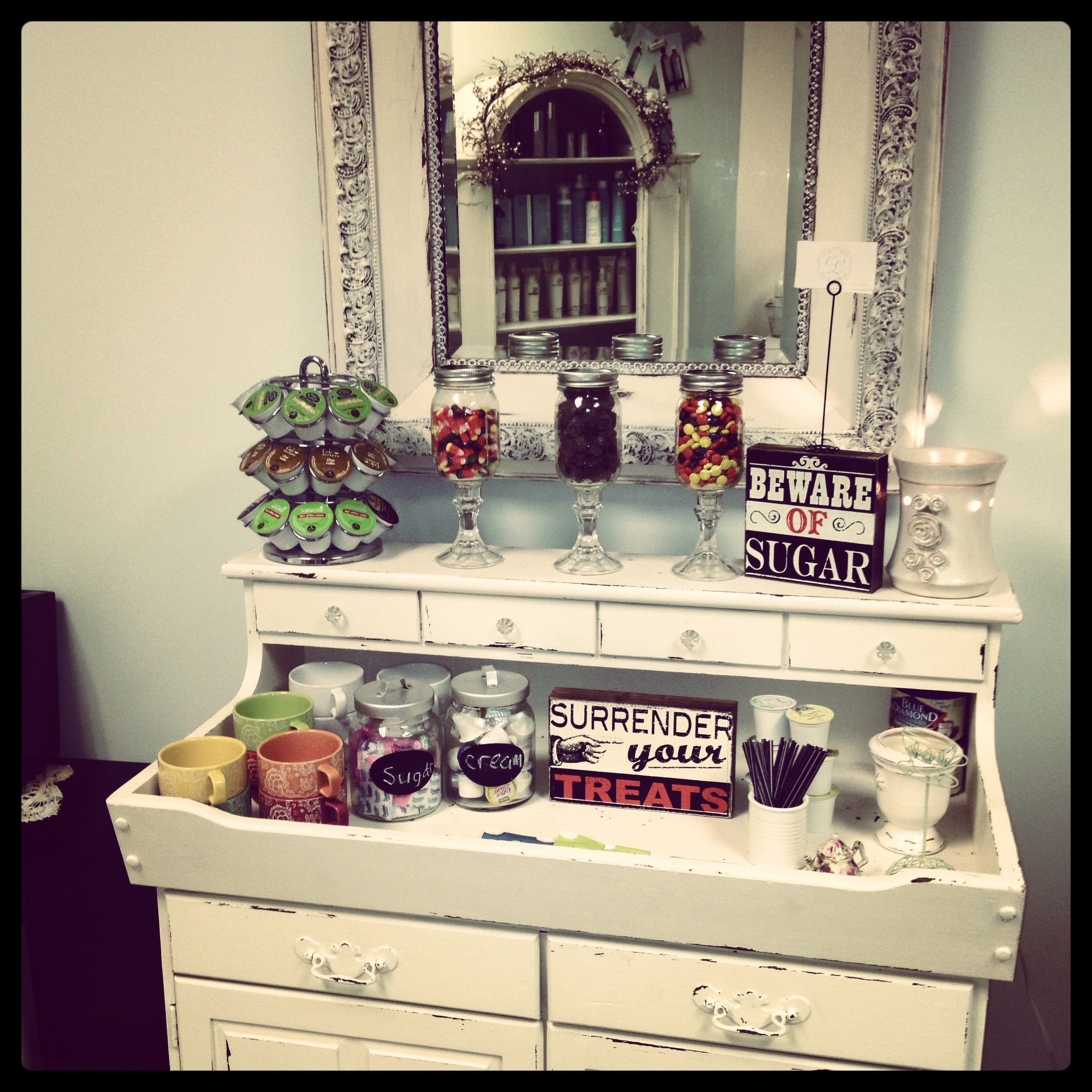 Shabby Chic Corner Coffee Table: Café, Bar Y Jugos