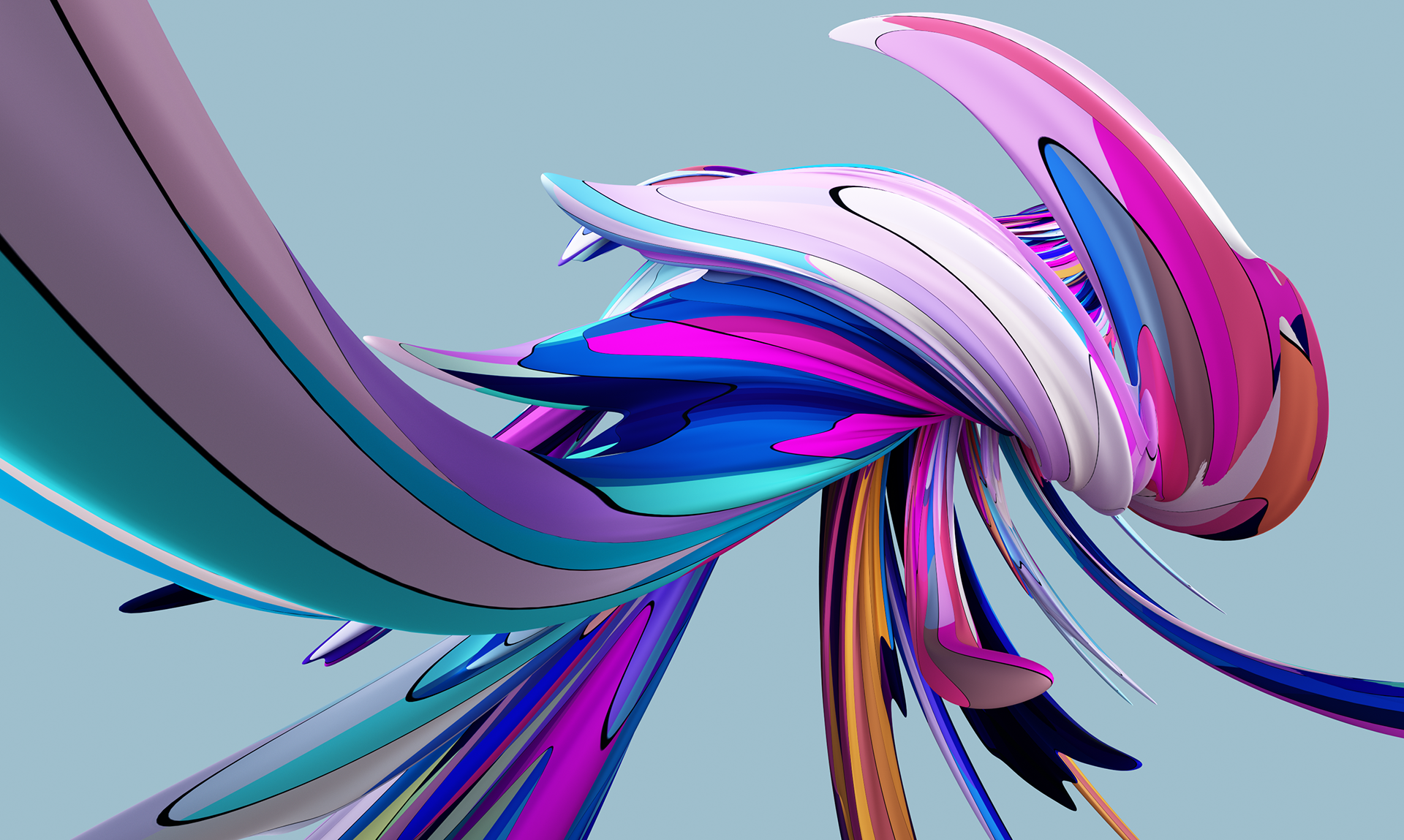 Danny Ivan 3d Imagery Maker Curved Lines Series 1 0 Abstract Imagery Homescreen Wallpaper