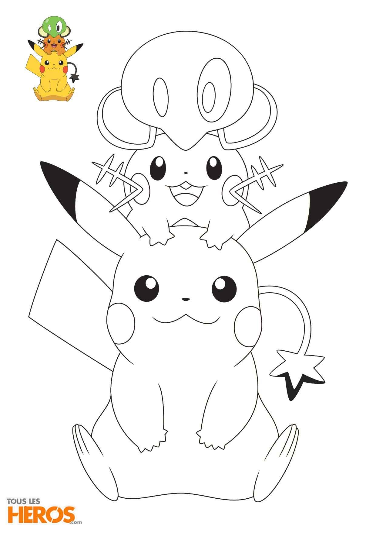 Coloriages Pokémon  découvir sur le blog de TLH