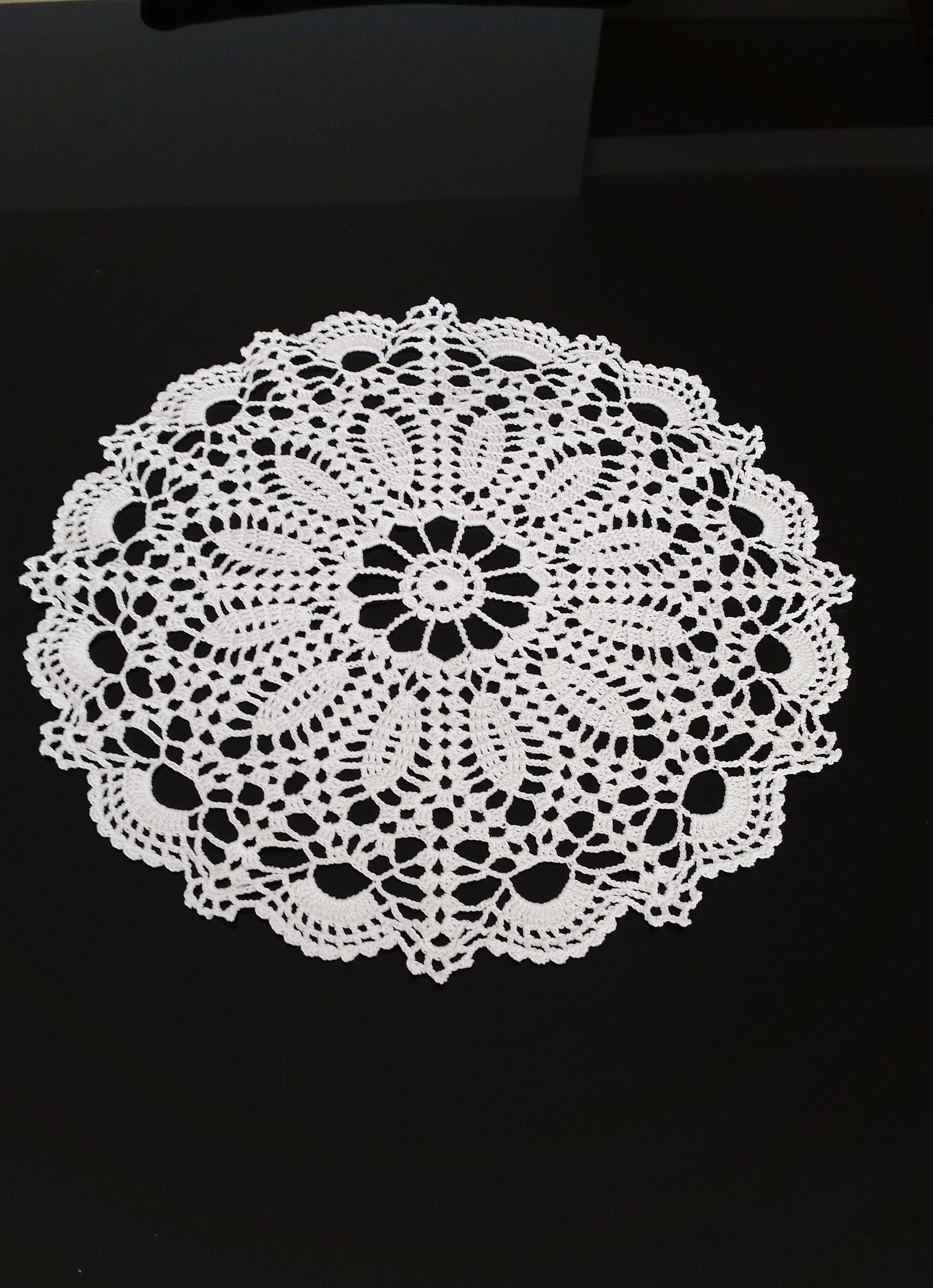 29 Cm 115 Inches Crocheted Doily Crochet Doily White Doilie