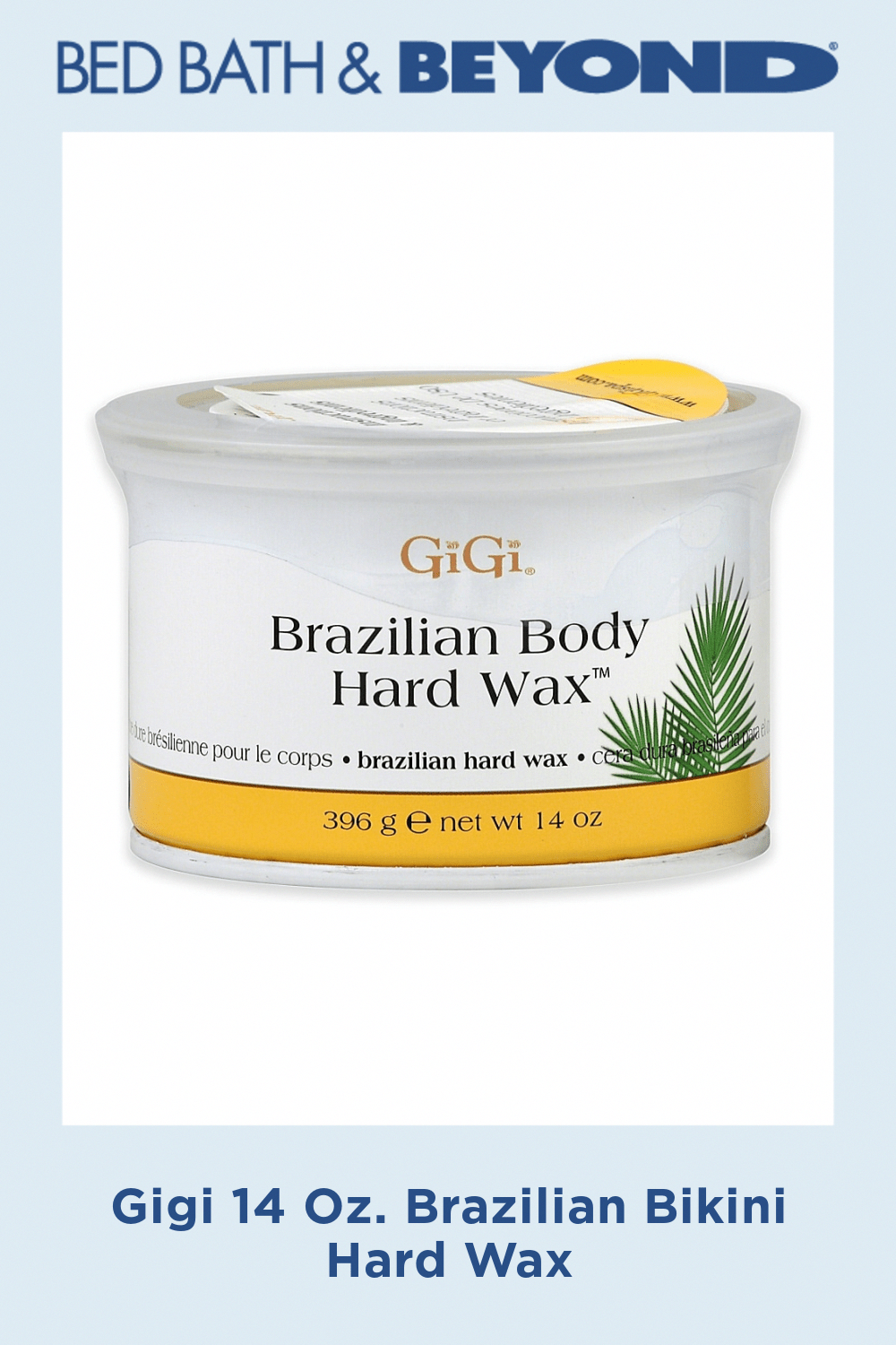 Gigi 14 Oz. Brazilian Bikini Hard Wax LegHairRemoval in