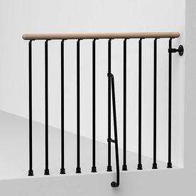 Best Arke Phoenix 3 9 Ft Black Painted Steel Stair Railing Kit 400 x 300