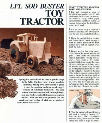 983 Wooden Tractor Plans - Wooden Toy Plans | Wooden