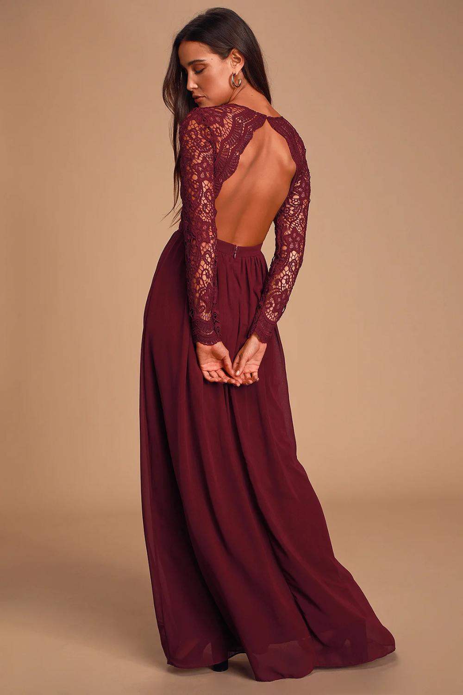 Awaken My Love Burgundy Long Sleeve Lace Maxi Dress Long Sleeve Lace Maxi Dress Lace Maxi Dress Burgundy Maxi Dress [ 1500 x 1000 Pixel ]