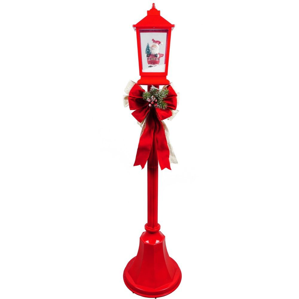 Outdoor Christmas Lamp Posts.Christmas Lamp Post 56 Lighted Play Holiday Music Outdoor