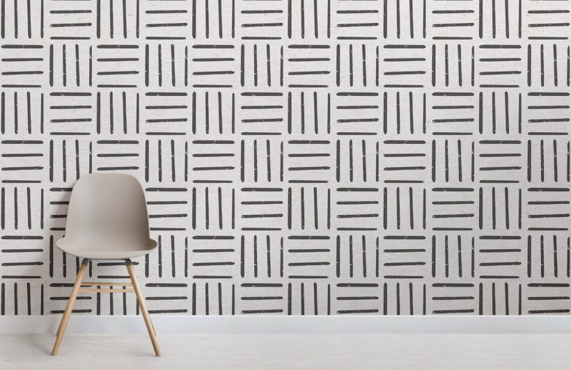 Black And White Tribal Lines Wallpaper In 2019