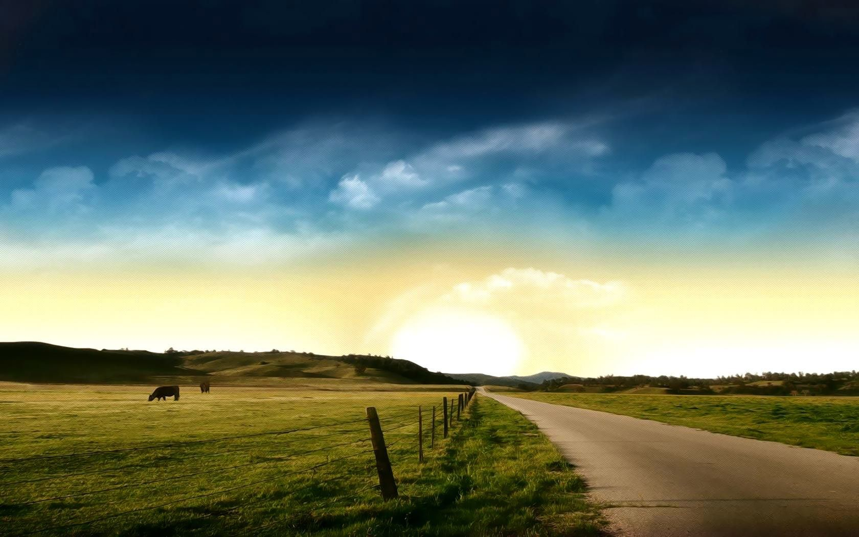 The Prairie Landscape Photography Wallpaper Desktop Background Country Backgrounds Landscape Country Roads