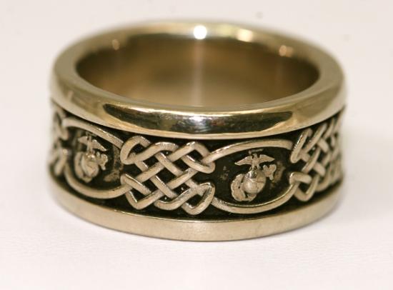 USMC Mens wedding ring Loveys Day Pinterest USMC Weddings