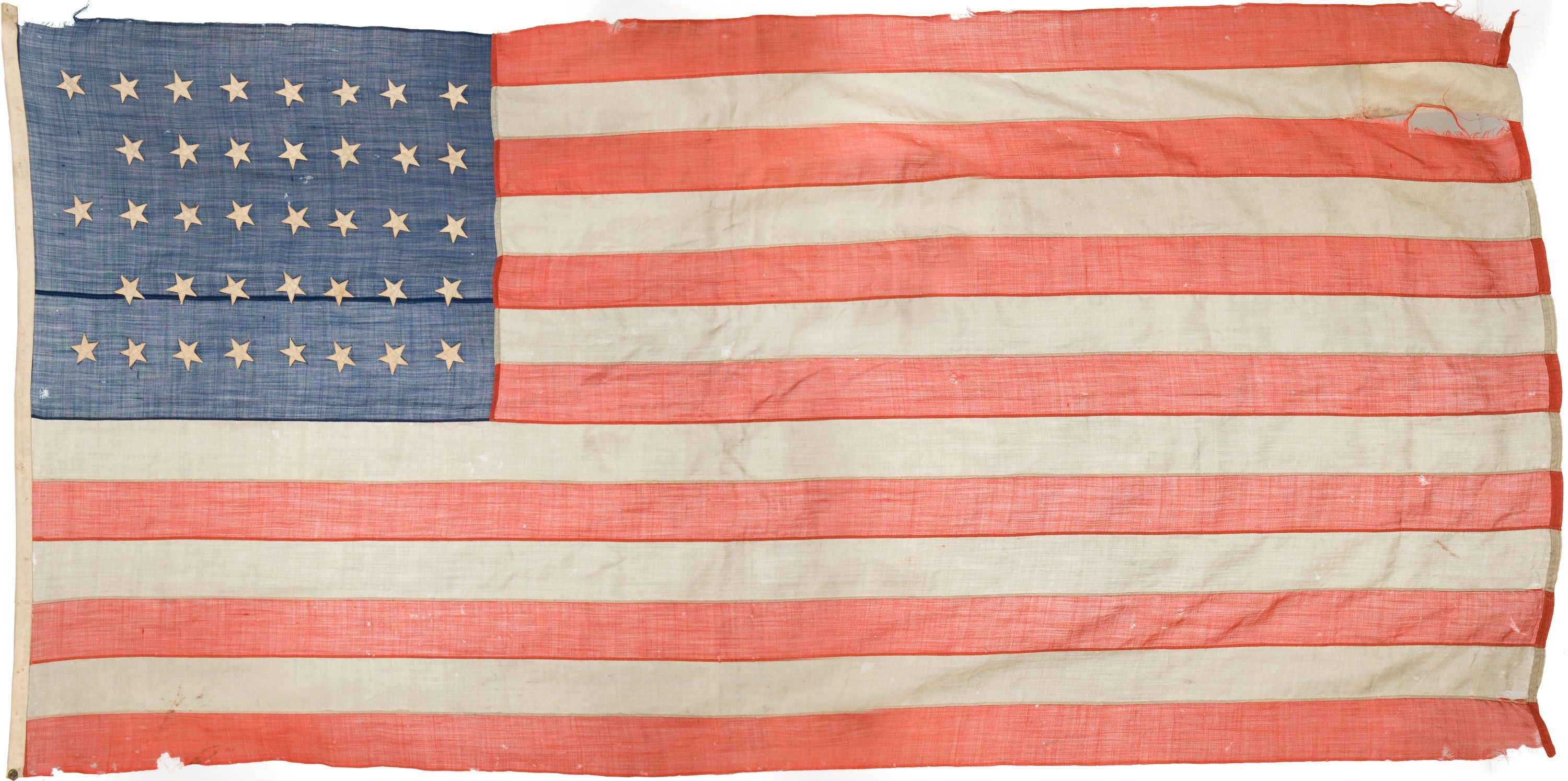 38 Star Us Garrison Flag Possibily From Fort Abraham Lincoln Flag Flags Of The World Country Flags