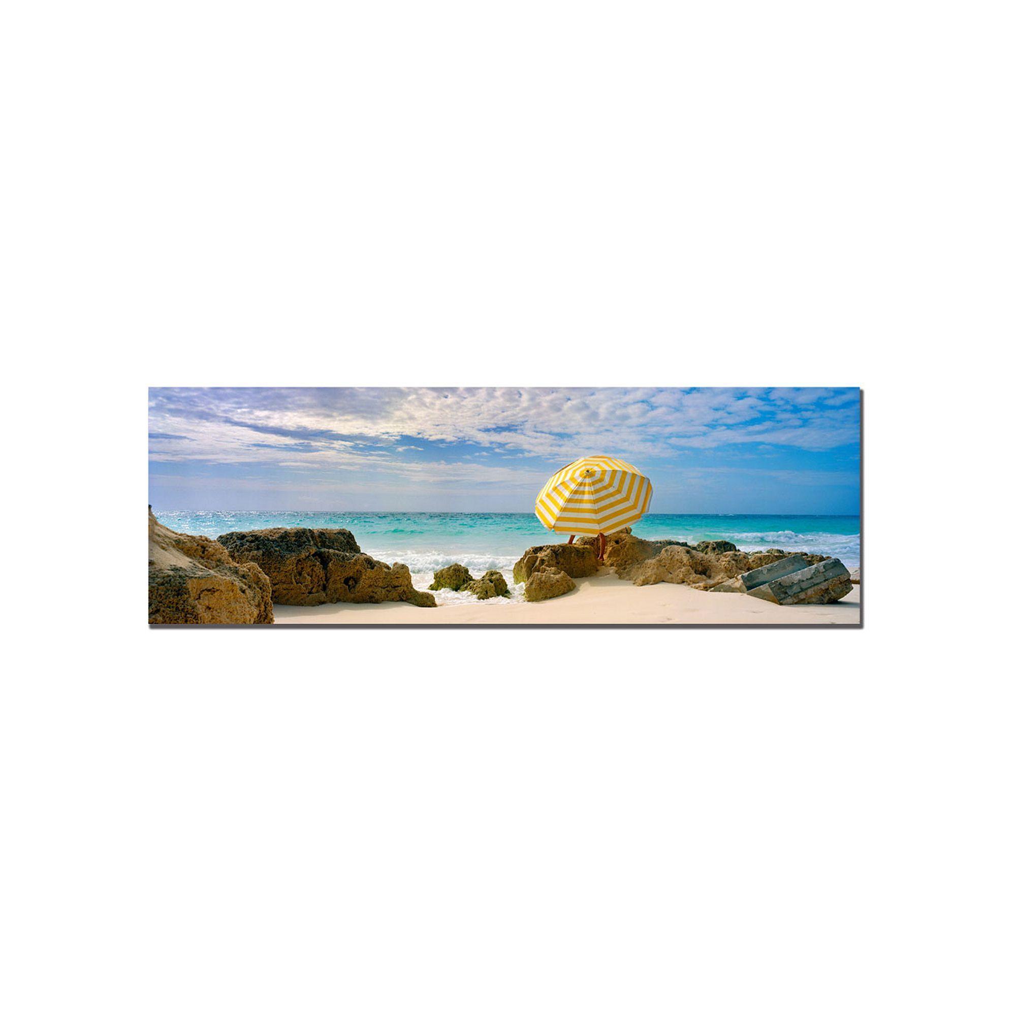 ''Bermuda Umbrella'' Canvas Wall Art, Blue