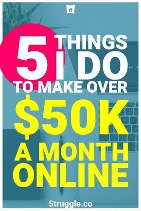 Online Geld verdienen: Was ich tue, um von zu Hause aus 50.000 Dollar im Monat zu verdienen   – Jobs, Work, Money
