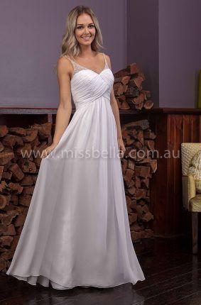 Arielle Deb Dress#whitedress #debdress #debutantedress #debdressmelbourne #melbournebridalshop #missbella