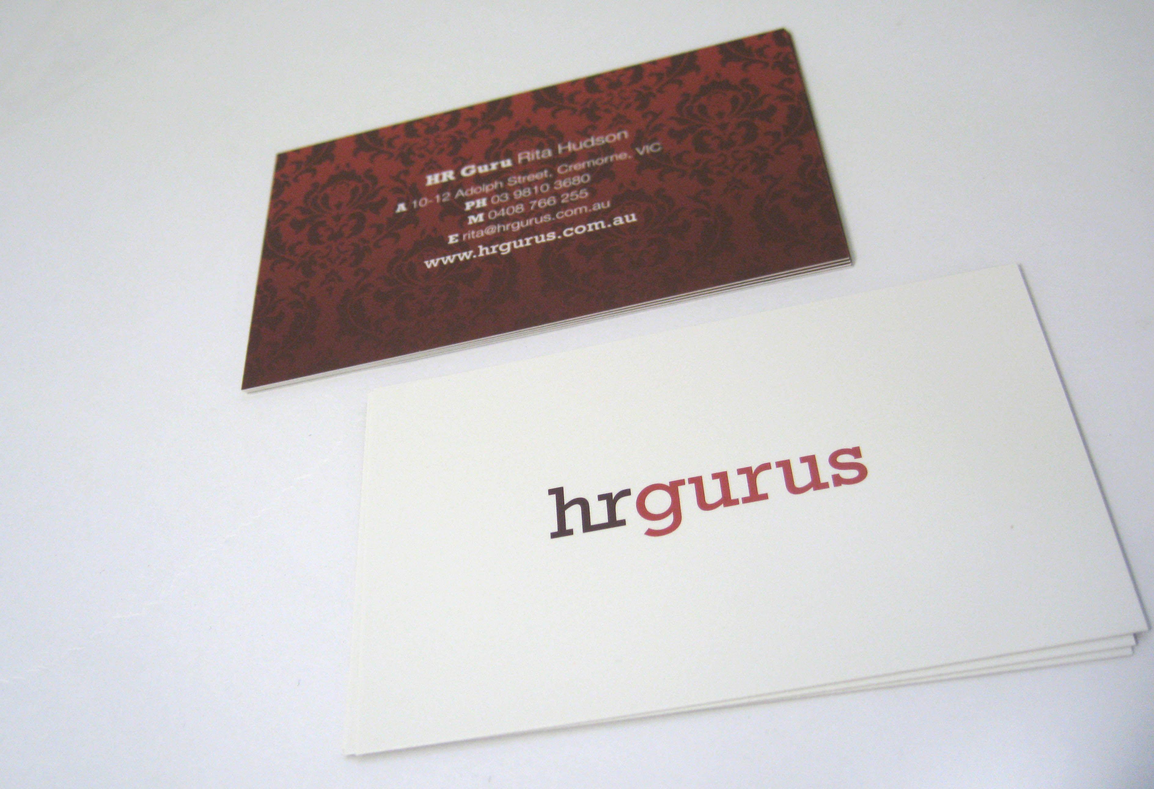 Hr Gurus Business Cards Business Cards Prints Business