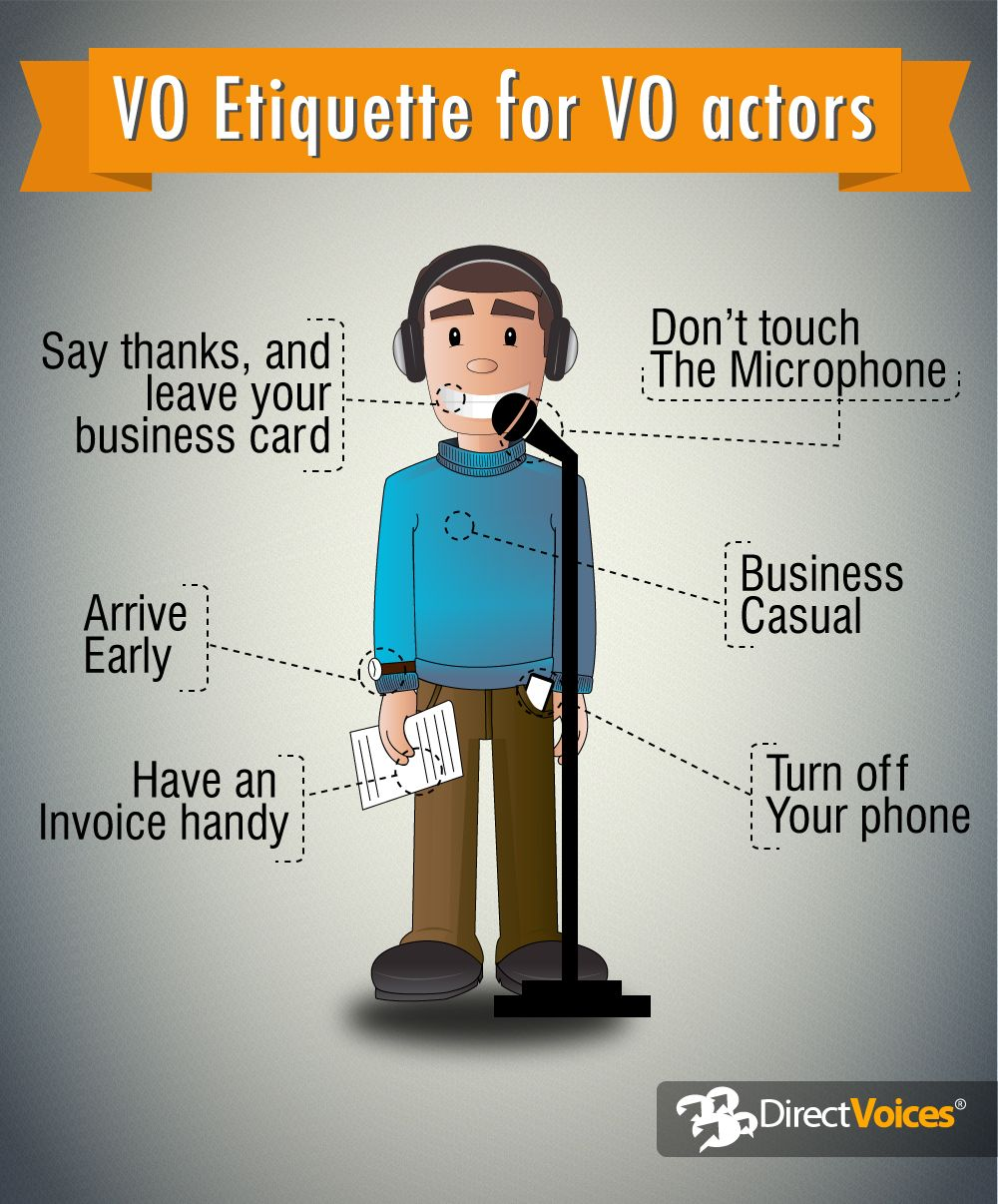 VO Etiquette for VO actors The voice, Singing tips