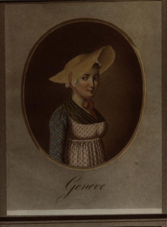 Jean-Emmanuel Locher: Costume de Genève, La Bâtie Series title :Recueil de Portraits et Costumes Suisses les plus élégants usités dans les 22 Cantons [1817-1820]