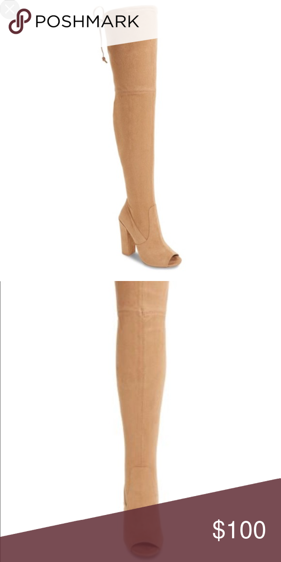 4cb602d7d0f Steve Madden over the knee thigh high boots Beautiful Steve Madden over the  knee open toe boots . Suede material. Very flattering. Brand new without  box.