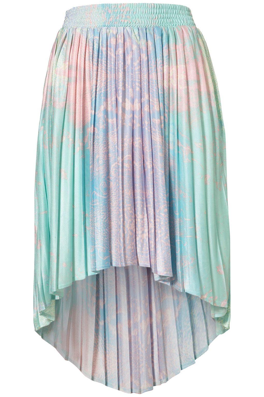 Earth Printed Dip Back Skirt