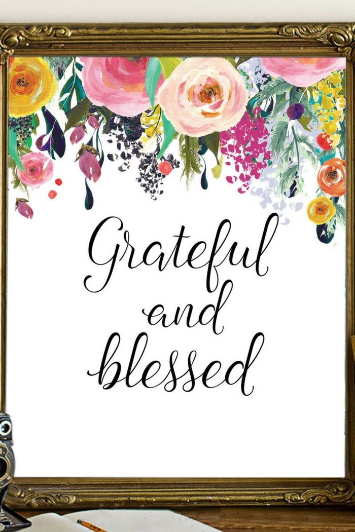 Printable Wall Art | US $2.20 | Grateful and Blessed | Feminine Wall Art Decor |  sc 1 st  Pinterest & Printable Wall Art | US $2.20 | Grateful and Blessed | Feminine Wall ...