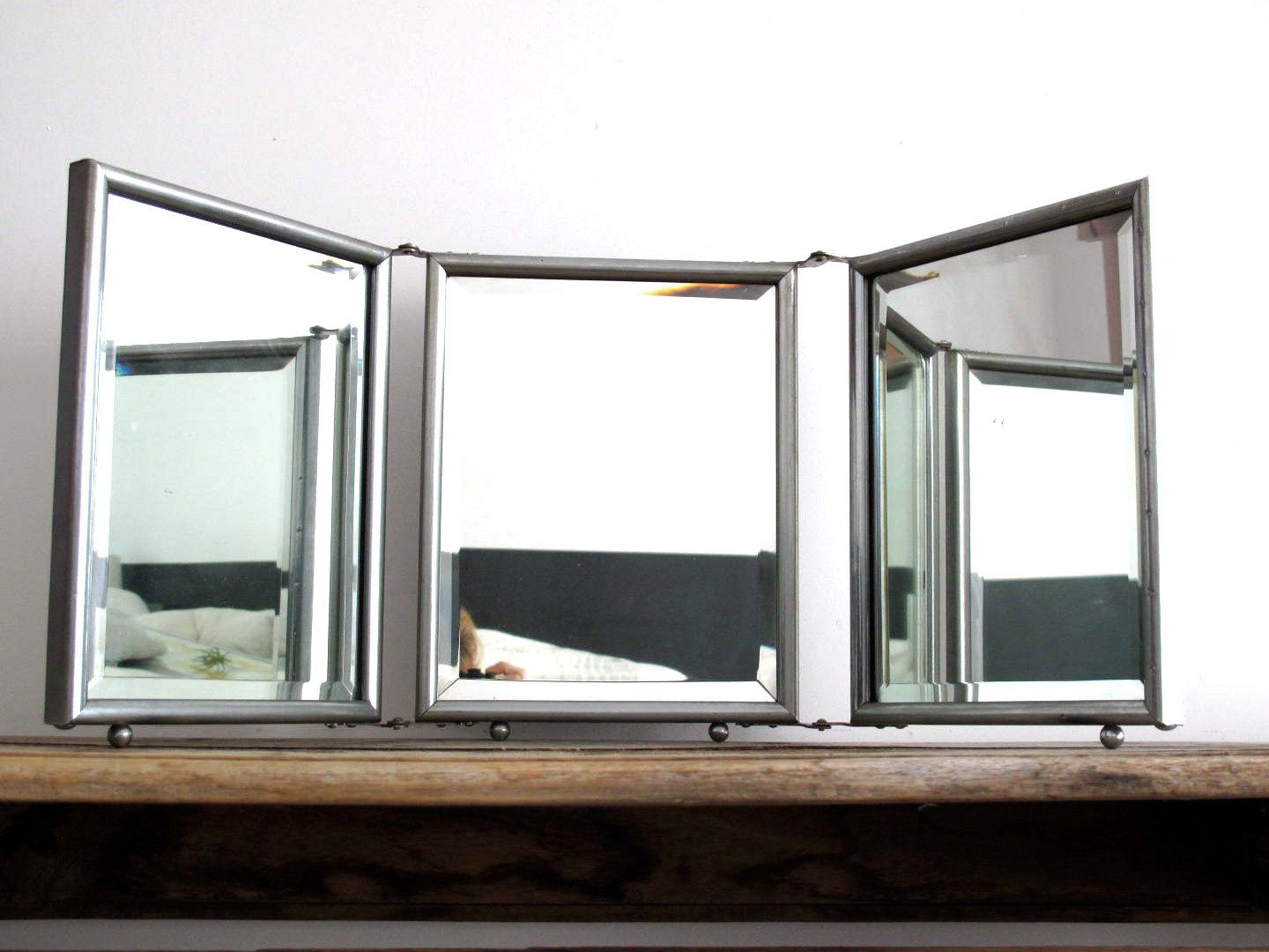 Tri Fold Vanity Mirror With Lights Triptych Mirrors  Google Search  Ideas For The House  Pinterest